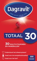 Dagravit Totaal 30 Multivitaminen Voedingssupplement - 200 Tabletten