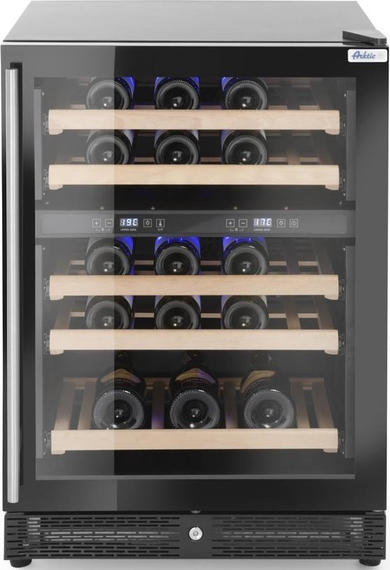 Koelkast: Arktic Wijnkoelkast met 2 Zones | 145 Liter | Tafelmodel | 4/20°C | Max. 44 Wijnflessen, van het merk Arktic