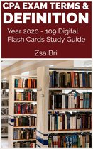 CPA Exam Terms & Definition Year 2020 - 109 Digital Flash Cards Study Guide