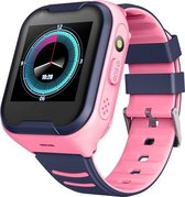Q-time 4Glte 4G Kinder Smart Watch met GPS WiFi Buetooth Ip67 waterbestendig een 1,4 inch display de camera kortom speciaal ontworpen voor de veiligheid van uw kinderen Kleur Roze.
