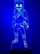 Fortnite lamp. Nachtlampje Fortnite Marshmello. Battle Royale Lamp. Nachtlampje kind. 7 kleuren
