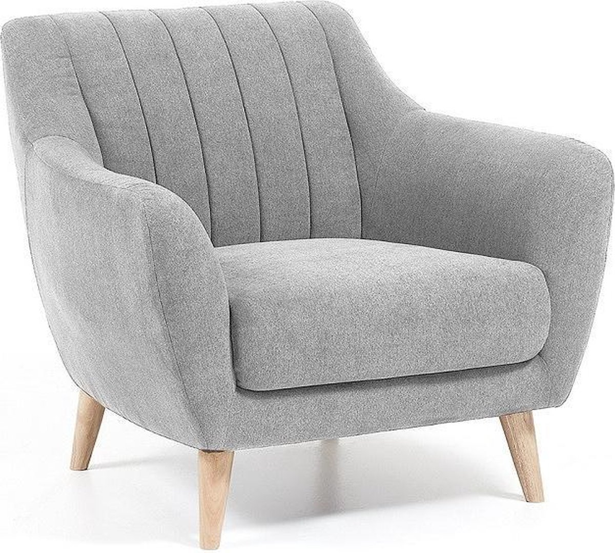 Kave Home Off - Fauteuil -  lichtgrijs - gestoffeerd - Kave Home