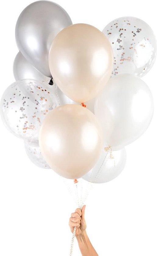 Knot & Bow   Ballonnen Mix   Blush Koper   12 stuks   30cm