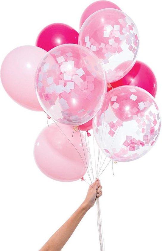 Knot & Bow   Ballonnen Mix   Roze   12 stuks   30cm