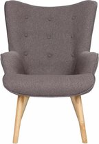 Fauteuil Ypos - Taupe - Fauteuil - 98 x 76 x 69 - Stof