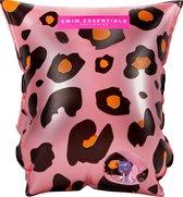 Swim Essentials Roze Panterprint Zwembandjes 0-2 jaar