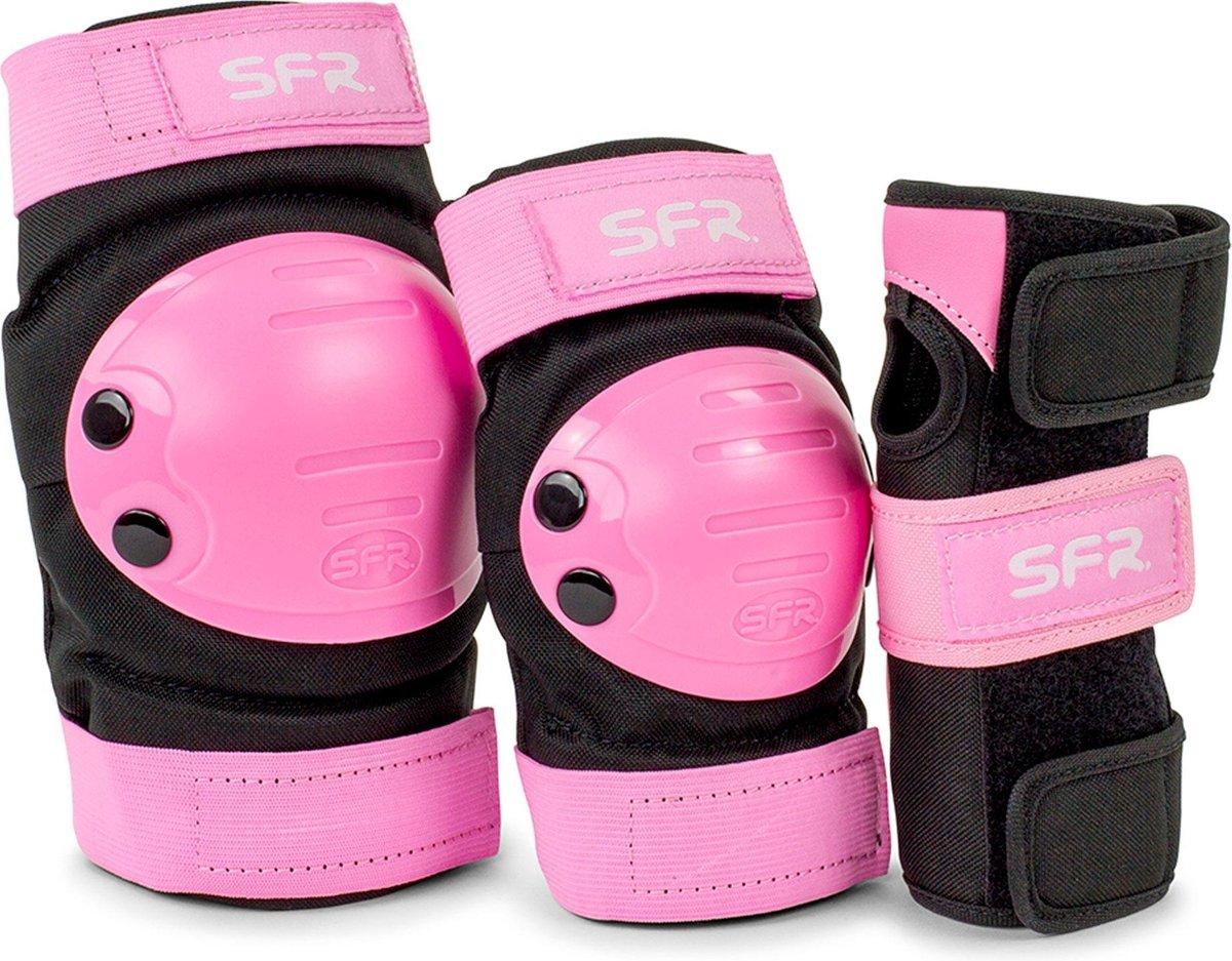 SFR Valbescherming setKinderen - roze - zwart M - JUNIOR