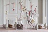 Glass Santa Christmas Ornament (2pcs)