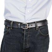 Leren Riem Jeansblauw Van 3 cm Breed - Dames Riem Of Heren Riem - Maat 135 (Taille tot 120 cm)