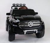 Elektrische kinderauto Mercedes Pick up ZWART 4x4 12V Full options