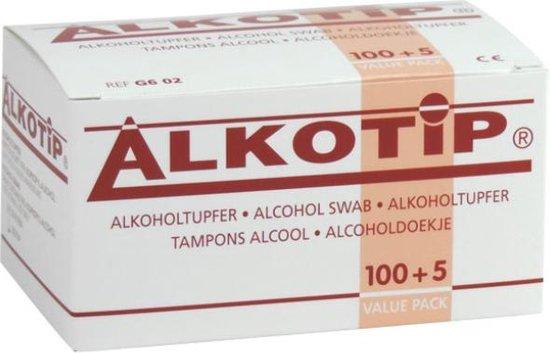 50x alcohol pads - Alcohol doekjes 50 stuks - Alkotip - Desinfecterende doekjes - Reinigingsdoekjes voor beeldscherm, tablets, brillen, handen of computer