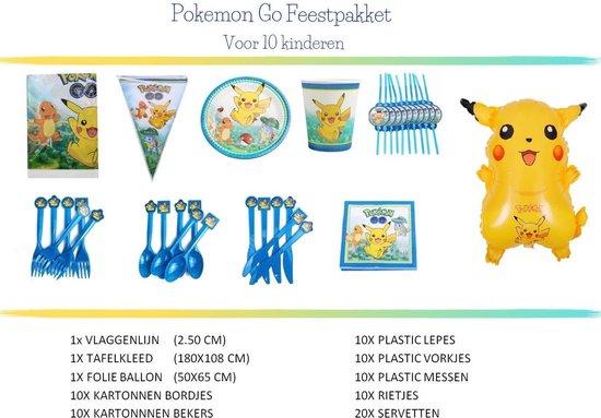 Pokemon Go Feestpakket | Voor 10 kinderen | 83 delig | Feest Versiering