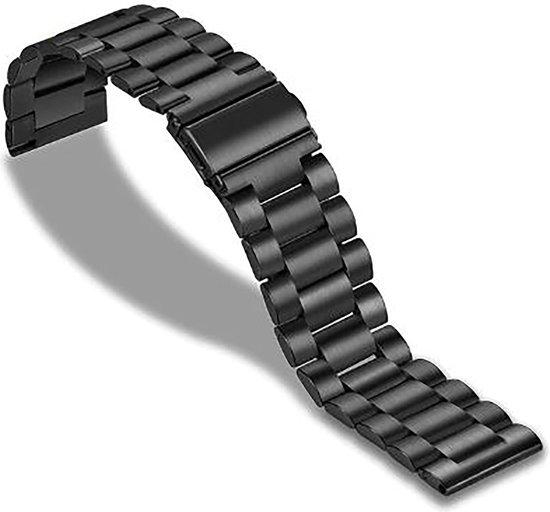 Horlogeband van Metaal voor Shinola   20 mm   Horloge Band - Horlogebandjes   Zwart