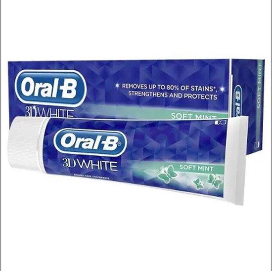 3x Oral-B Tandpasta – 3D White Soft Mint