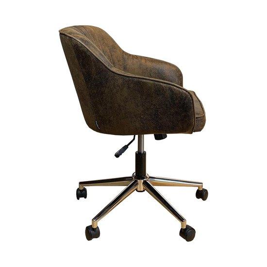 Vintage Bureaustoel De Wit.Bol Com Bureaustoel Vintage In Hoogte Verstelbaar En Wieltjes