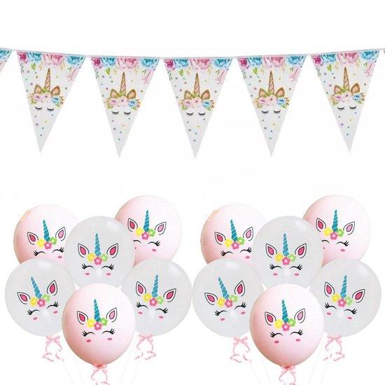 12x Unicorn ballonnen met Unicorn vlaggenlijn | verjaardag | feestje | versiering