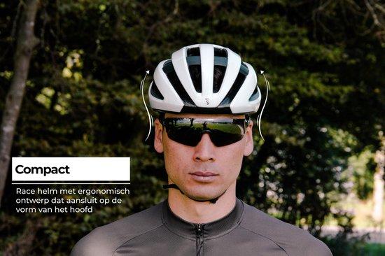 BBB Cycling Fietshelm Maestro Unisex Racefiets - Glanzend Wit Maat L - BHE-09