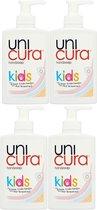 Unicura Vloeibare Handzeep Pomp Kids - 4 x 250 ml Voordeelverpakking