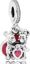 Zilveren Bedels Disney | Bedel Mickey en Minnie | Met rood hart | 925 Sterling Zilver | Bedels Charms Beads | Past altijd op je Pandora armband | Direct snel leverbaar | Miss Charming