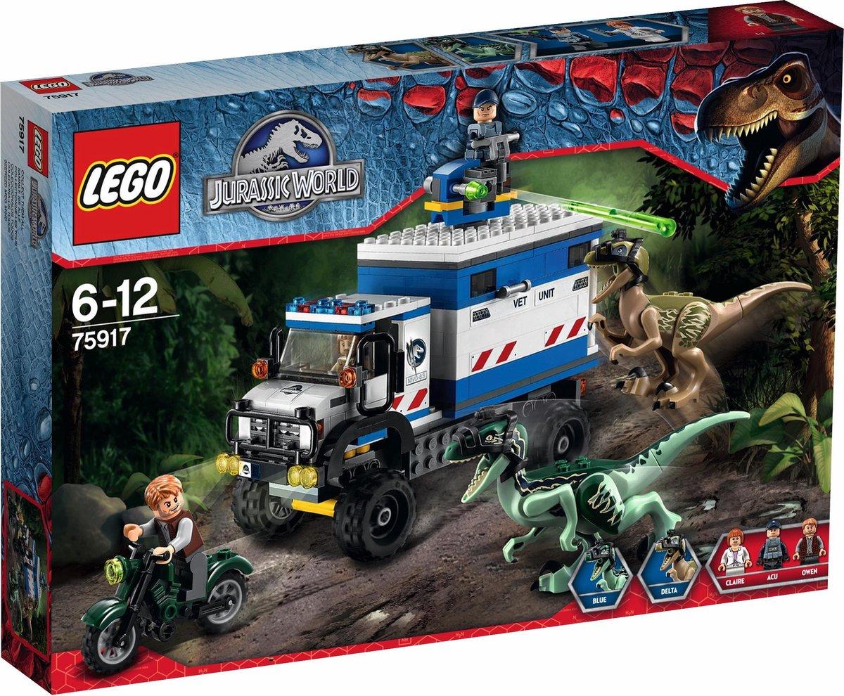 LEGO Jurassic World Raptorrooftocht - 75917