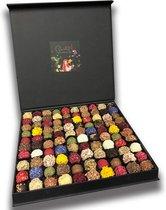 ChocolaDNA  Exclusieve handgemaakte chocolade bonbons truffels in luxe geschenkverpakking - 100 stuks