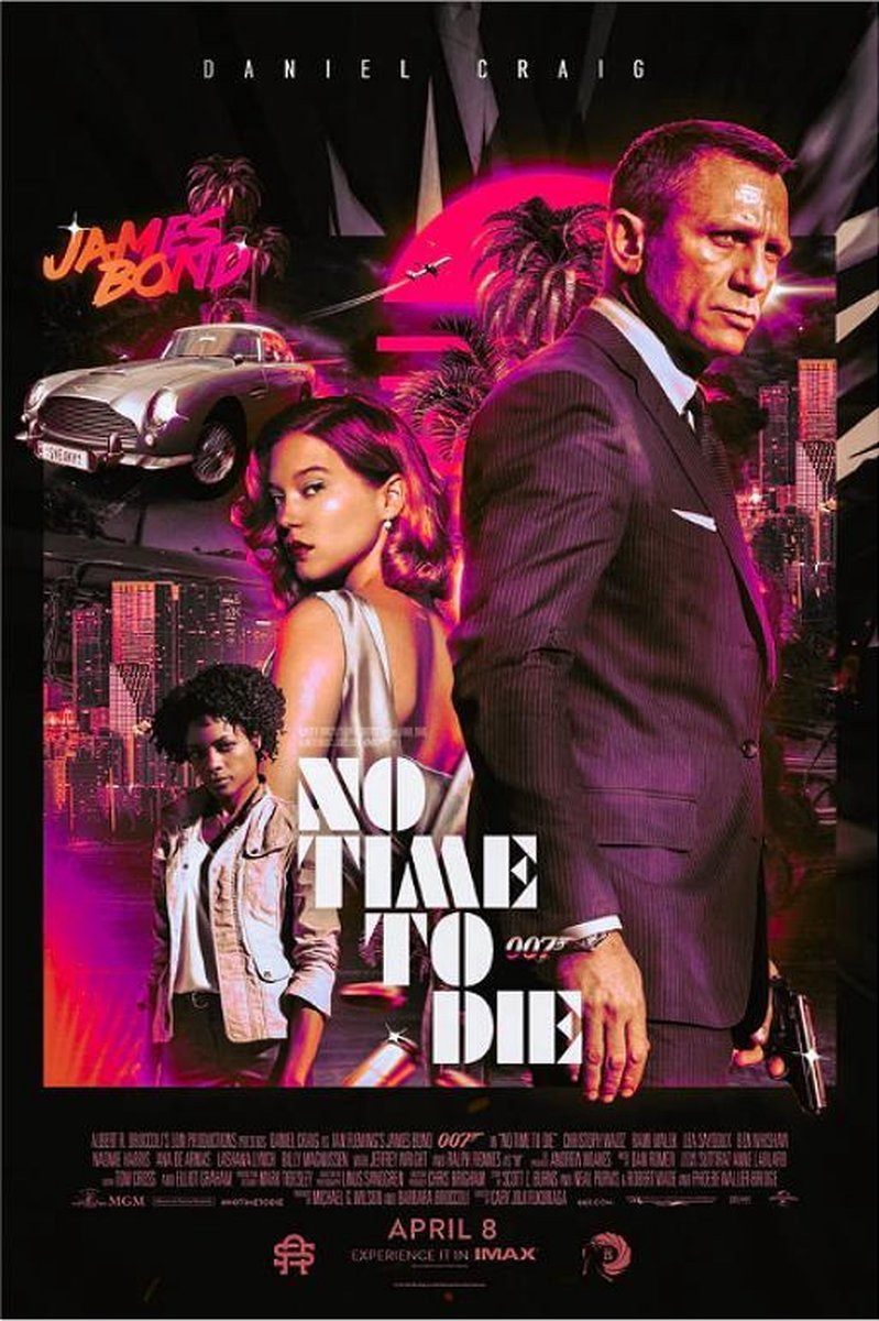 James Bond 007 Posters Film Poster 61x91,5 cm No Time To Die