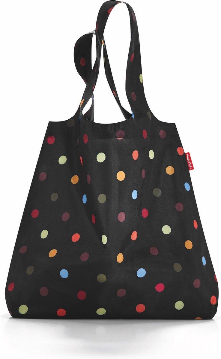 Reisenthel Mini Maxi Shopper Opvouwbare Boodschappentas - 15L - Dots Zwart