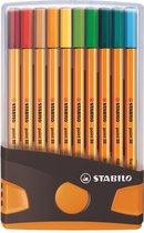 STABILO point 88 - ColorParade - Antraciet/Oranje - Set Met 20 Verschillende Kleuren