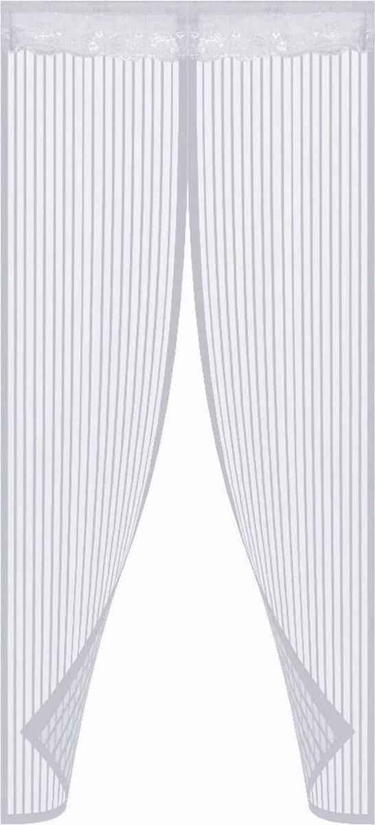 O'DADDY vliegengordijn deur magnetisch - 92x230 cm - wit