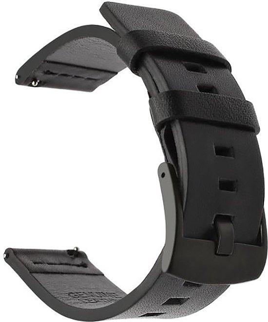 Horlogeband van Leer voor Suunto 3 / 7 / 9 | 24 mm | Horloge Band - Horlogebandjes | Zwart