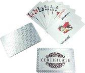 Luxe zilveren Speelkaarten - Waterdichte Speelkaarten - Pokerkaarten - Speelkaarten - Waterproof kaarten - Geplastificeerd - Competitief - Spelletjes - Kaarten
