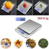 Professionele Digitale Mini Pocket Keuken Precisie Weegschaal - Op Batterij - 0,01 MG tot 2000  Gram- Ultra Nauwkeurige Zakweegschaal - LCD Display