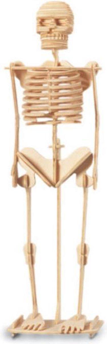 Bouwpakket 3D Puzzel Skelet - hout