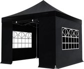 Easy up luxe partytent - 3x3m - Zwart