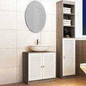Badkamerkast met 6 planken 34 x 26 x 170 cm