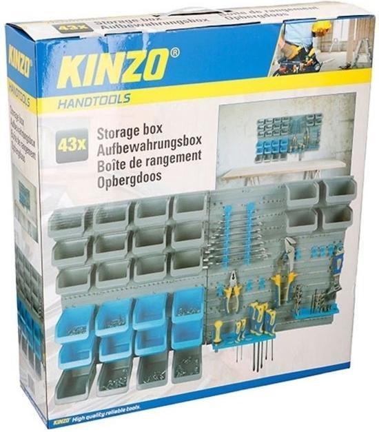 Kinzo gereedschapswand - 100 x 54cm - 10 haken - 43-delig