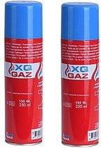 2x Busjes aansteker gas / butaan gasfles 250 ml - Multi