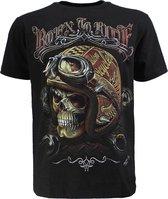 Biker Glow in the Dark T-Shirt Born To Ride Zwart