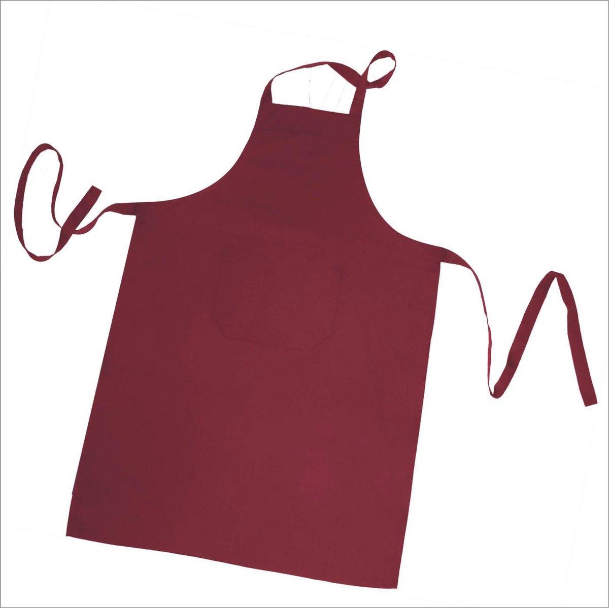 Homéé® Horeca suite Keukenschorten BBQ BIB Apron - Bordeaux Rood - 70x100 cm - 2 stuks