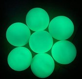 Fidget Sticky balls - globbles balls -  fidget toys pakket - set van 5 ballen - groen - opgeblazen geleverd