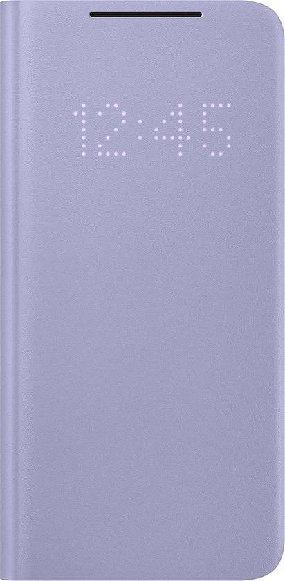 Samsung Smart LED View Antibacteriële Hoesje - Samsung S21 - Violet