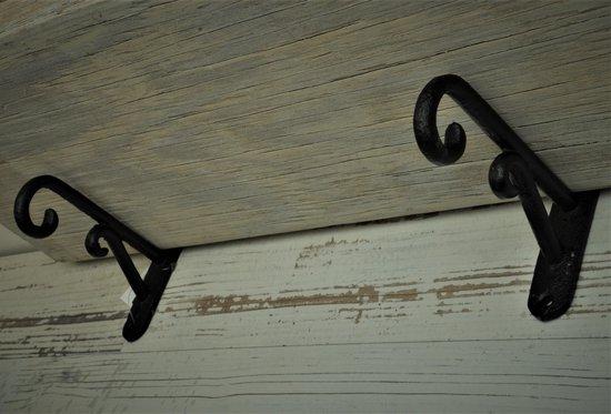 Kolony, Plankdrager, zwart gietijzer, L x Br x H= 12 x 2 x 8 cm.