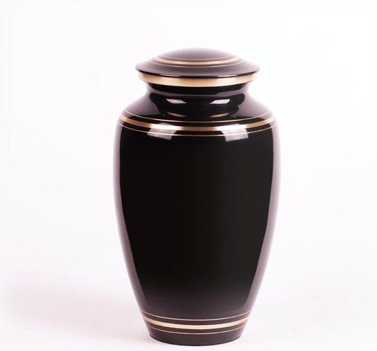 Crematie-urn | Messing urn groot | Laagste prijs | handgemaakte urn | zwart
