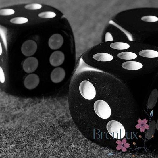 Afbeelding van het spel ✿ Brenlux - Mini dobbelstenen zwart - Kleine dobbelstenen 10st - Gezelschapsspelletjes - Dobbelstenen klein - Zwarte dobbelstenen - Pocket dobbelstenen