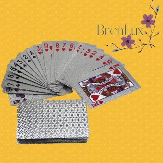 Afbeelding van het spel ✿Brenlux - Kaartspel - Waterproof kaarten - Pokerkaarten - Zilver speelkaarten - Speelkaarten waterdicht - Spelletje kaarten - Potje kaarten