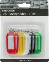 best choice sleutellabels 10 stuks diverse kleuren