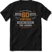 60 Jaar Legend - Feest kado T-Shirt Heren / Dames - Zilver / Goud - Perfect Verjaardag Cadeau Shirt - grappige Spreuken, Zinnen en Teksten.
