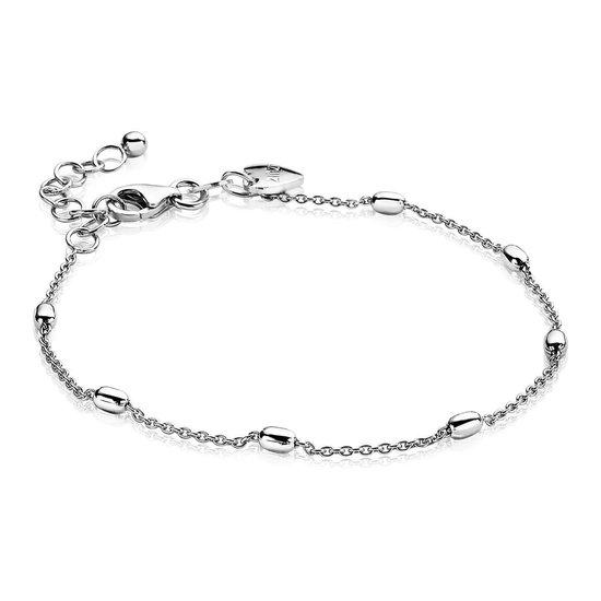 ZINZI zilveren fantasie armband ovaal 16,5-20cm ZIA1655
