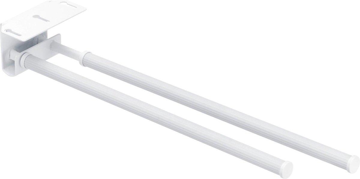 Wenko Handdoekhouder Duo Basic 43 X 11 Cm Staal Wit