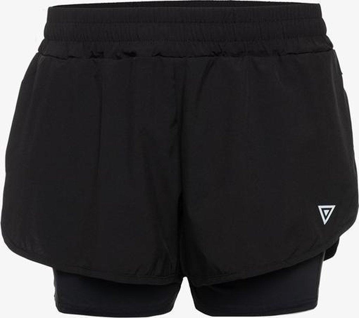 Osaga Pro dames hardloopshort - Zwart - Maat XL